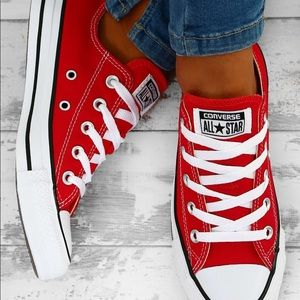 RED CONVERSE (mens size 13, womens 15)